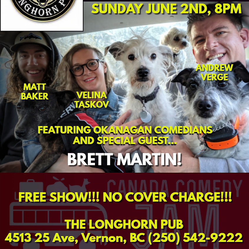 Canada Comedy Jam LIVE at The Longhorn Pub!