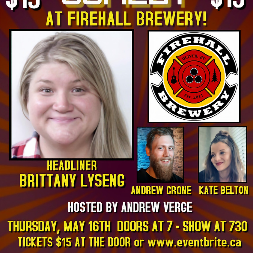 Live Stand-up Comedy with Brittany Lyseng!