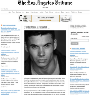 The Redhood is Revealed - Los Angeles Tribune
