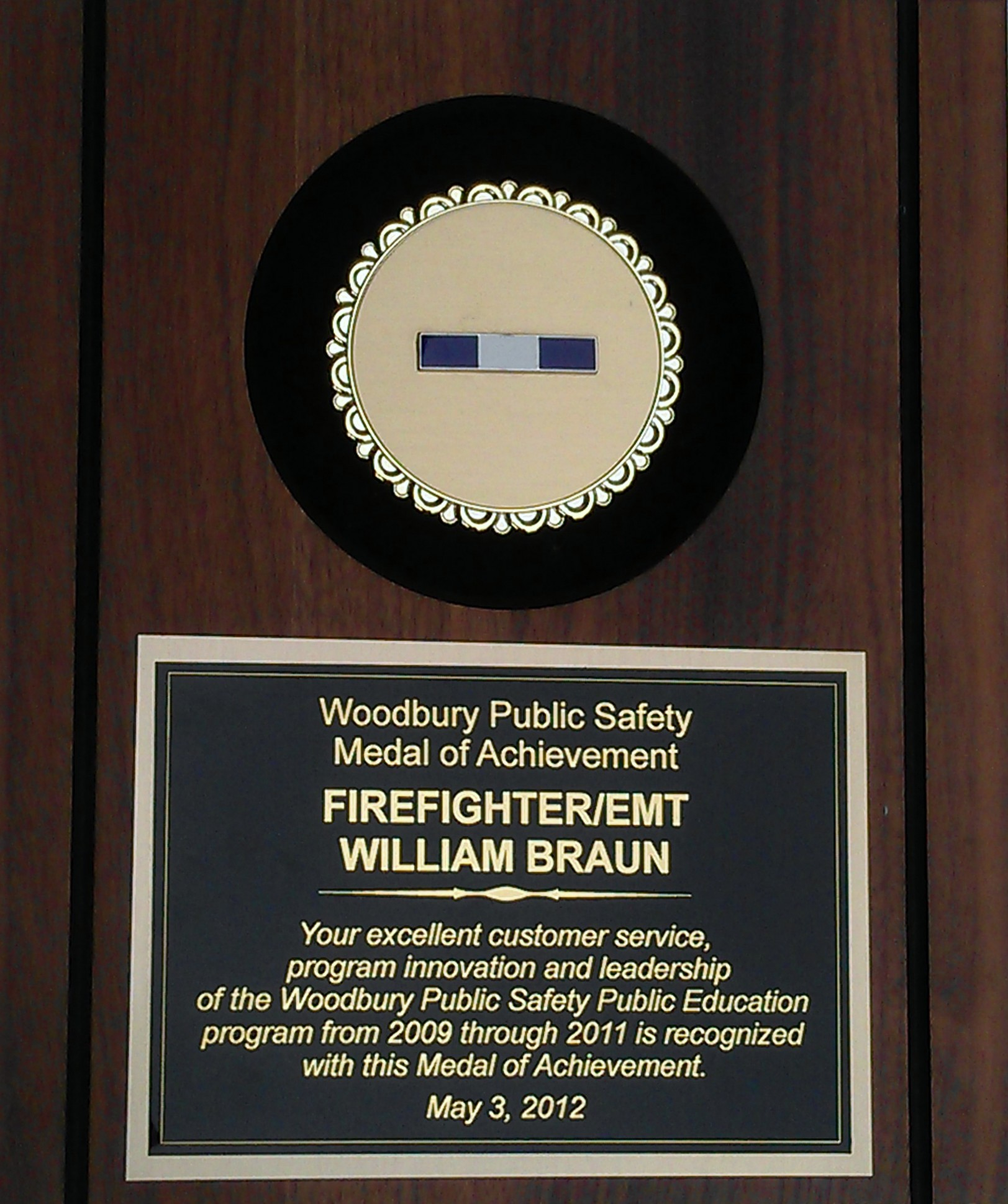 Bill's Woodbury Achievement Award