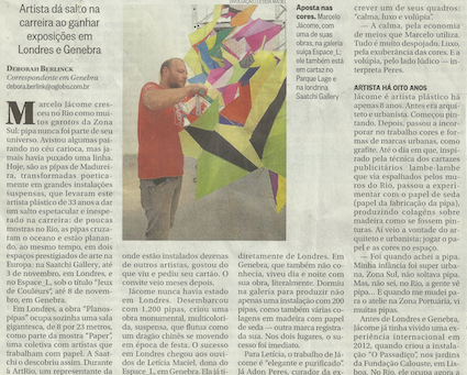 Jornal O Globo | setembro de 2013