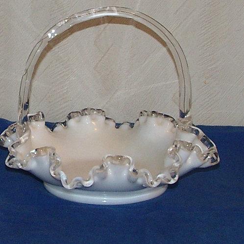 Fenton Silver Crest Basket