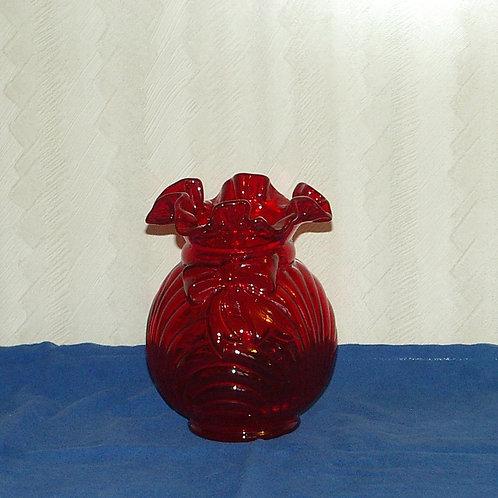 Fenton red vase.
