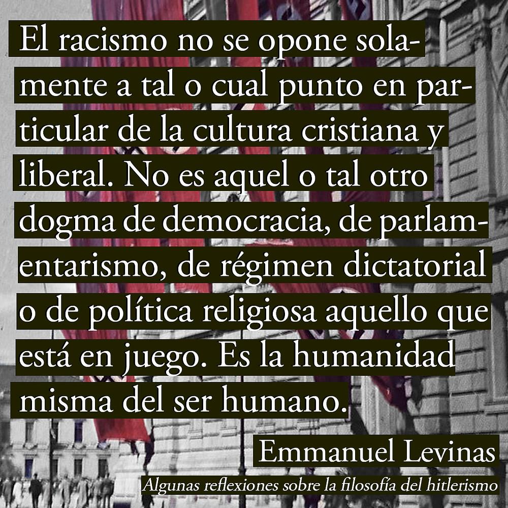 Levinas Hitler Racismo Filosofía