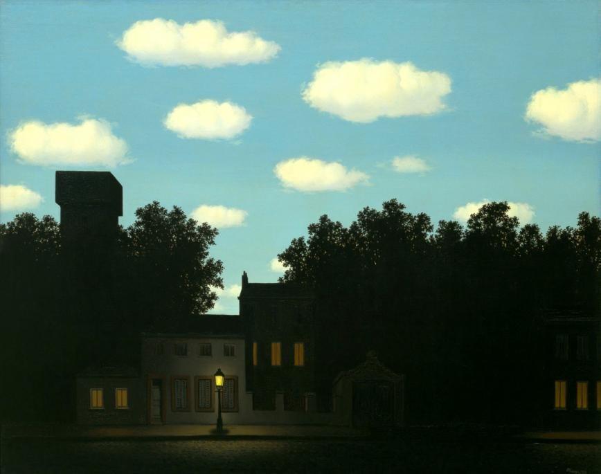 """Magritte, René. 1954. """"L'empire des lumières"""""""