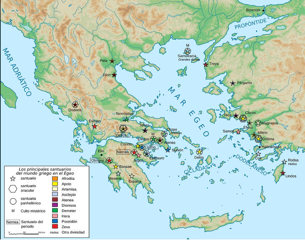 Santuarios griegos