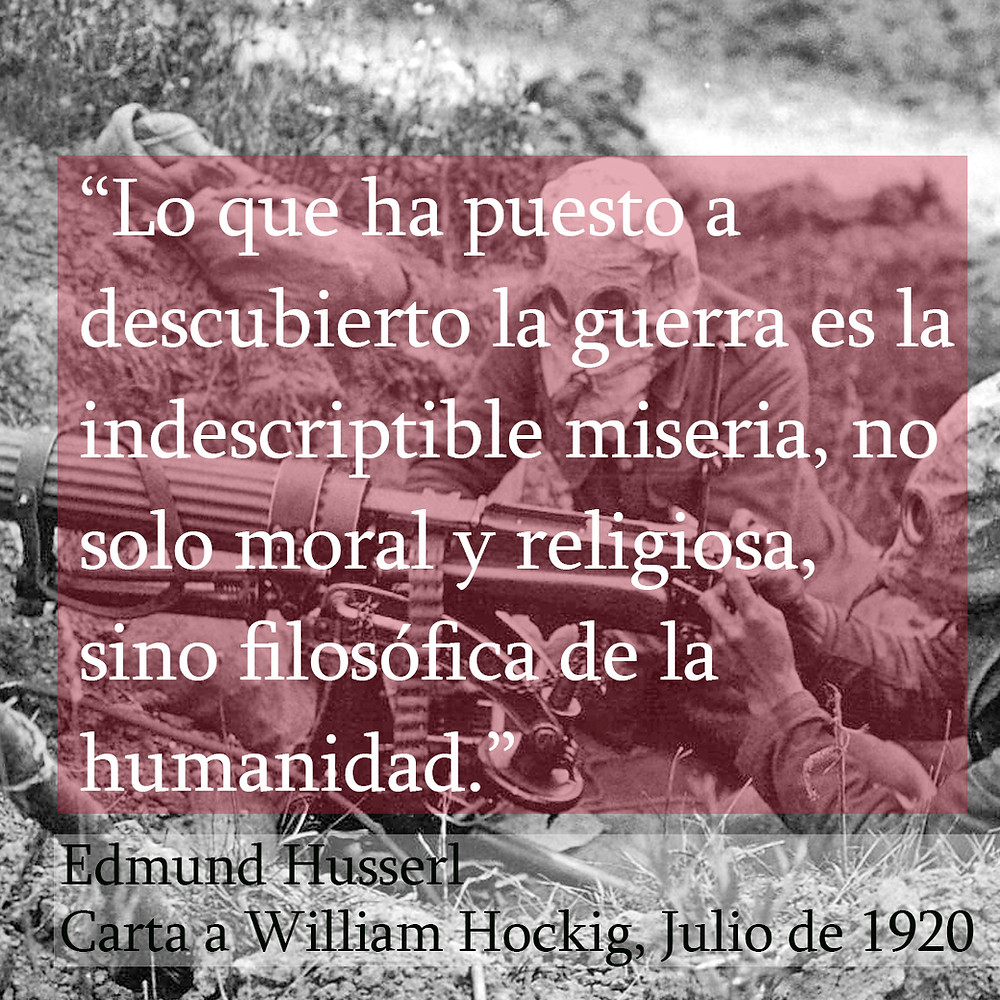 Edmund Husserl William Hockig Primera Guerra Mundial