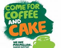 Tues 26th September Macmillan Coffee Morning 11am-12.30pm