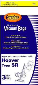 Hoover Bags Style SR (3 Pack)