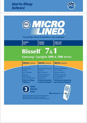 Bissell Micro Filtration Style 7,1 Bags (3 pack)