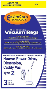Hoover Bags Style Z (3 Pack)