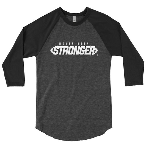 Never Been Stronger - 3/4 sleeve raglan shirt - BLACK