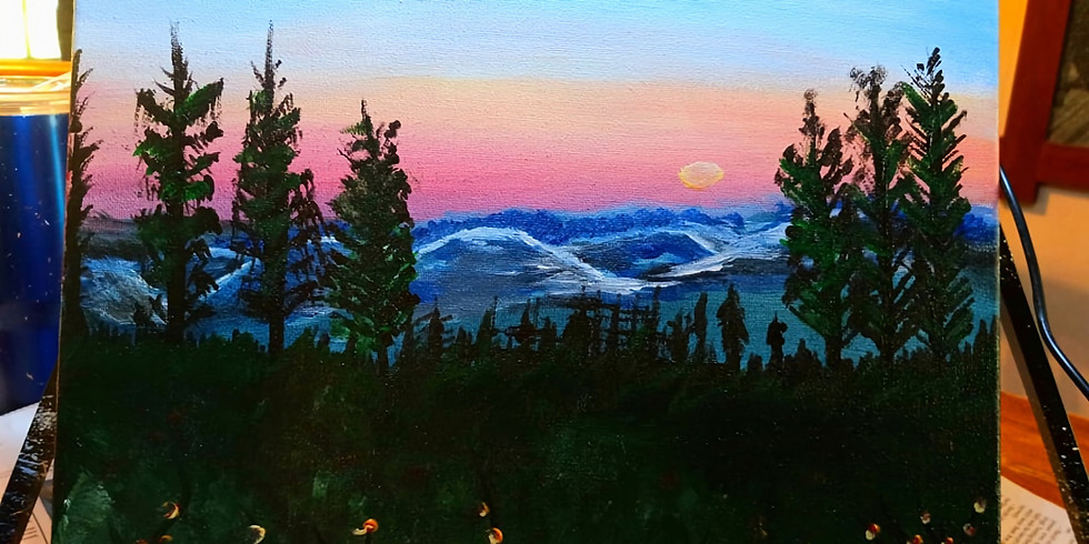 Misty Mountain Paint and Sip