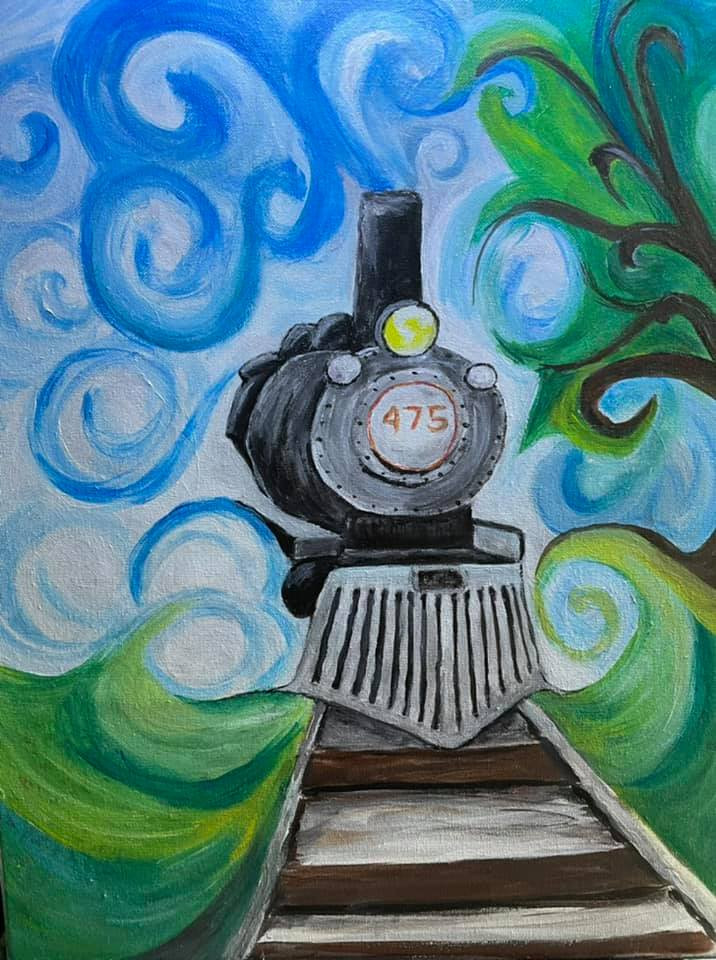 Learn to paint this Locomotvie steam engine. No.475 is Strasburg Railroad's pride and joy.