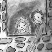 kids-window-boy-girl