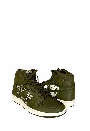 NIKE Baskets Air Jordan Retro Olive Canvas