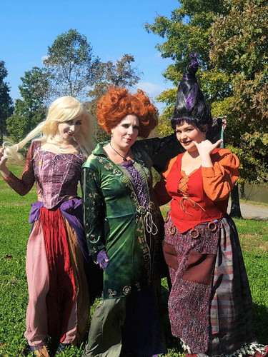 It's all a bunch of Hocus Pocus when our Witches arrive for your Spooky Events!  They are available as a group rental only.