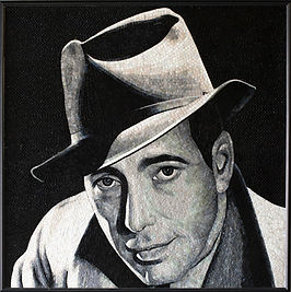 BellaVetro mosaic art Hollywood celebrity film noir Humphrey Bogart