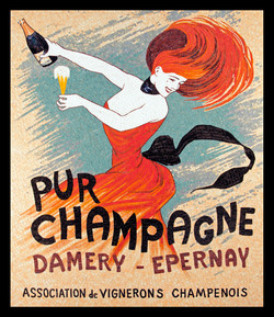 Pur Champagne, Vintage Poster
