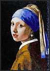 BellaVetro mosaic tile art Vermeer Girl with the Pearl Earring Blue Cure Foundation