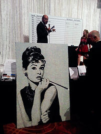 BellaVetro mosaic tile art Audrey Hepburn Unicef Gala charity auction