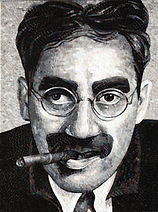 BellaVetro mosaic tile art Groucho Marx comedy celebrity Hollywood comedian