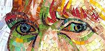 BellaVetro mosaic tile art Vincent Van Gogh eyes detail