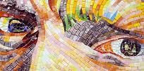 BellaVetro mosaic tile art Vincent Van Gogh artist portrait eyes straw hat