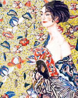 Lady with a Fan, Klimt