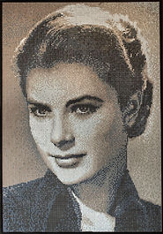 BellaVetro mosaic tile art Grace Kelly Hollywood film noir celebrity