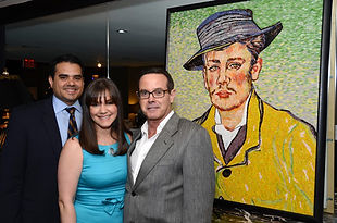 BellaVetro mosaic tile art Fink Van Gogh Vermeer Blue Cure Foundation charity Portrait of Armand Roulin