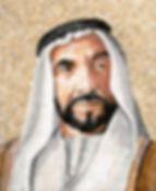 BellaVetro mosaic portrait sheik middle east interior art