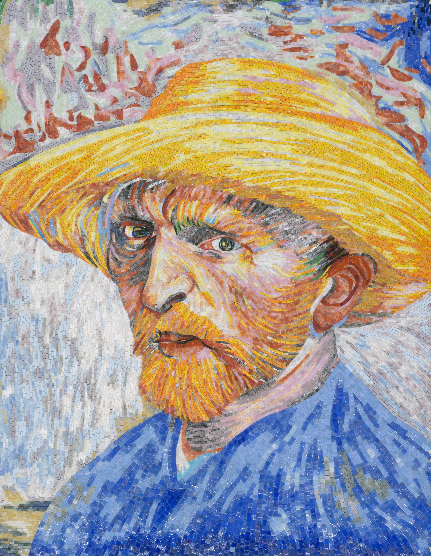Portrait with a Straw Hat, Van Gogh