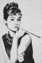 BellaVetro mosaic tile art Audrey Hepburn celebrity Hollywood film noir