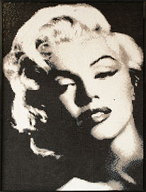 BellaVetro mosaic tile art Marilyn Monroe Hollywood celebrity film noir pop