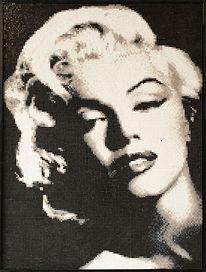 BellaVetro mosaic tile art Marilyn Monroe Hollywood celebrity film noir pop