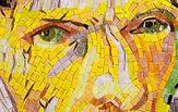 BellaVetro mosaic tile art Vincent Van Gogh detail eyes bandaged ear portrait