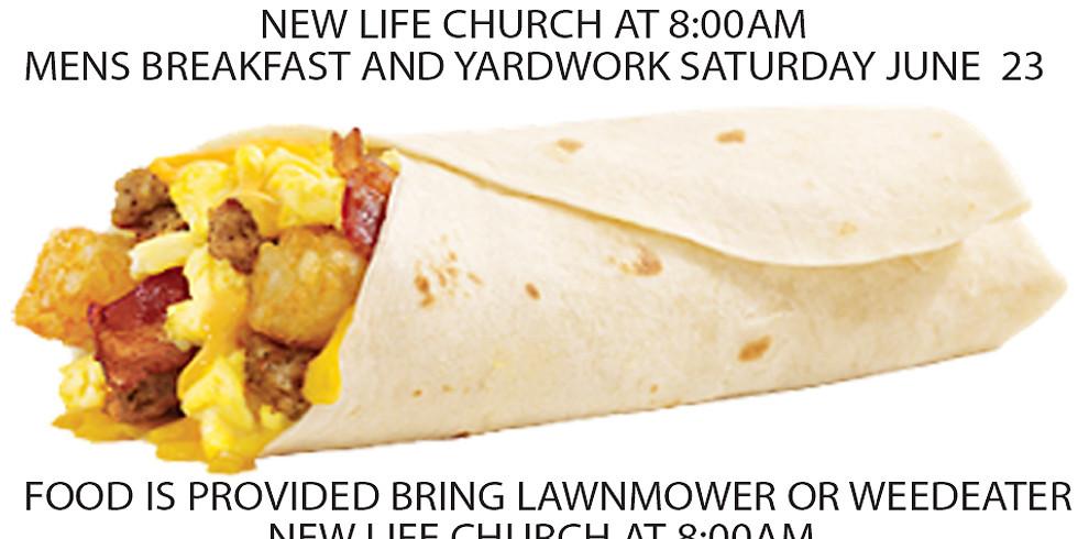 Men's Breakfast and Yardwork