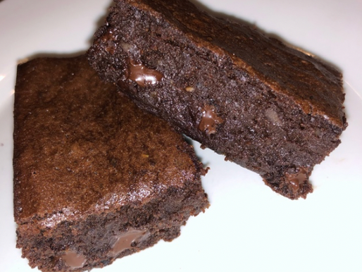 Fudgy Black Bean Avocado Blender Brownies