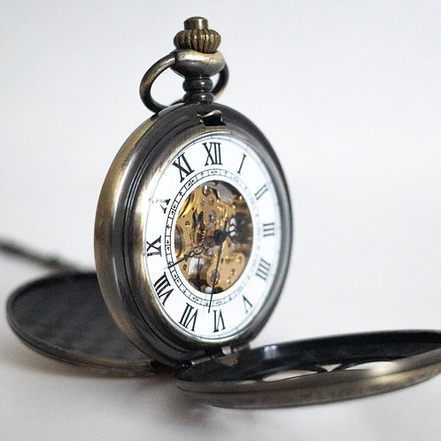 Steampunk Pocket Watch | Bronze | The Percy
