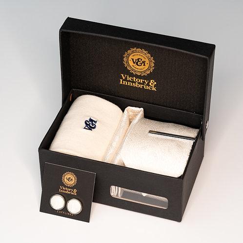 Ivory Paisley Tie Box Set