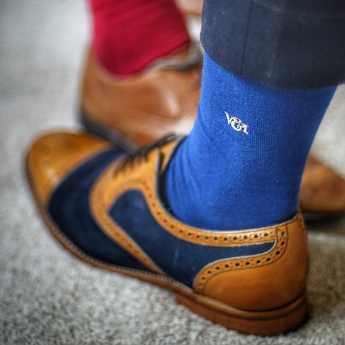 Blue Luxury Combed Cotton Socks