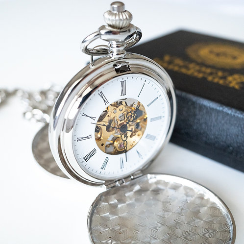 Double Hunter Pocket Watch | Silver | The Clasper