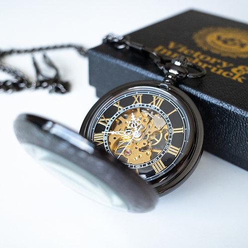 Steampunk Pocket Watch | Gunmetal | The Stephenson
