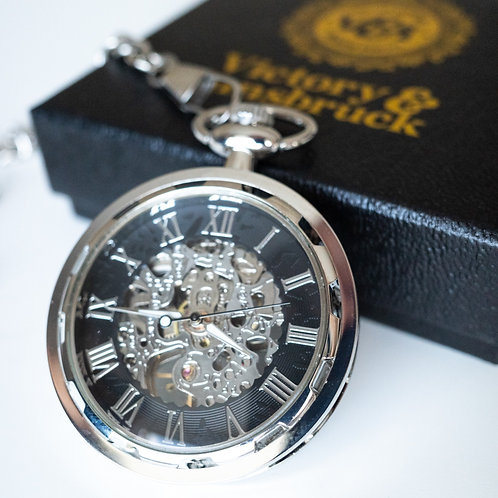 Skeleton Pocket Watch | Silver | The Collingwood
