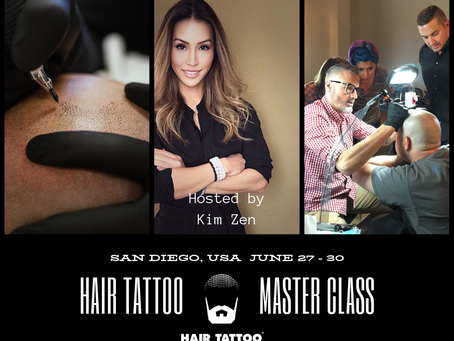 Hair tattoo training in San Diego, CA? Yes! on June 27-30 🇺🇸