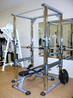 Bench Press and Squat Cage