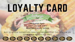 Anthony's Deli Loyalty Card