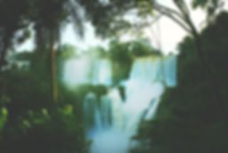 Waterfalls and structured water