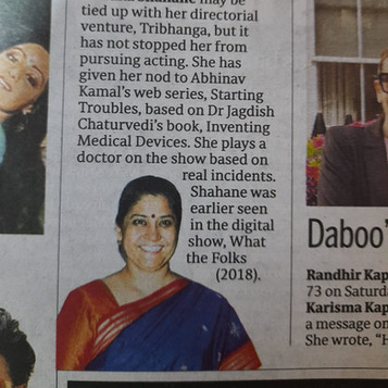 Renuka Shahane Starting Troubles Webseries Ten Motion Arts The Hindu Newspaper